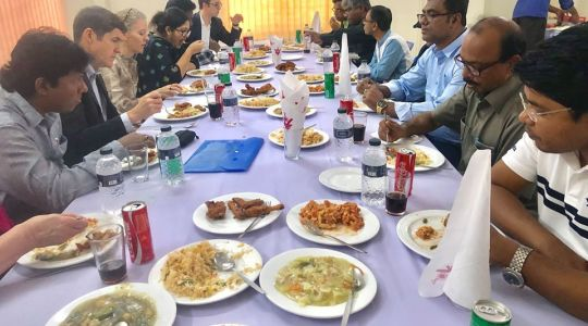 Director of CCD Bangladesh G M Mourtoza have taken lunch with U.S. Ambassador