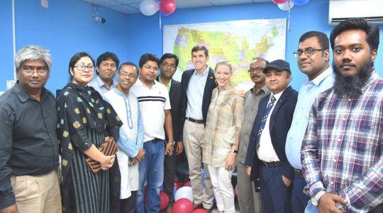 Director of CCD Bangladesh G M Mourtoza & Station Manager of Radio Padma 99.2FM Shahana Parveen meeting with U.S. Ambassador