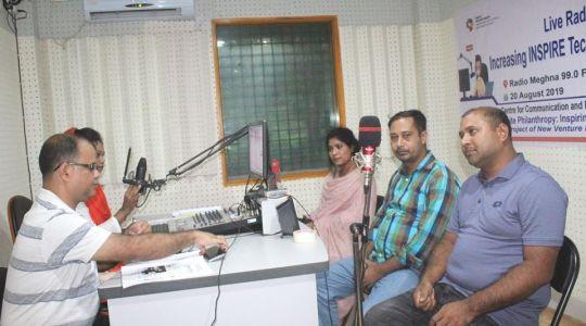 "Special Live Radio Talk Show named ""Open Sky"" has broadcast through Radio Meghna 99.0 FM"