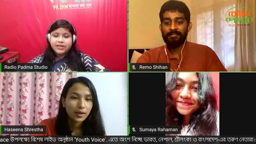Live Radio Show 'Youth Voice' on International Day of Peace