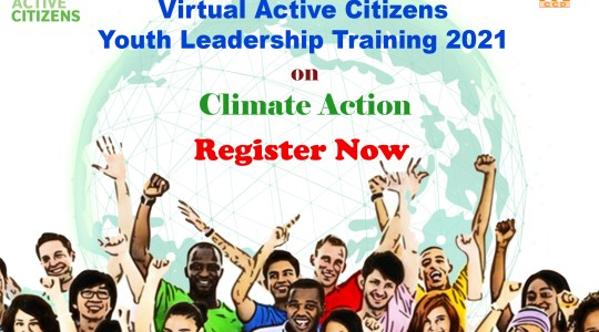 Call for Participants of Active Citizens Youth Leadership Training 2021- Digital Version