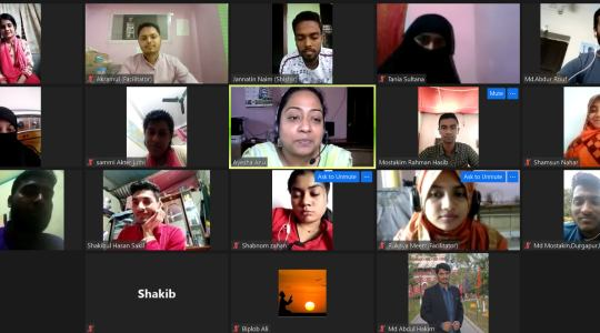 """CCD Bangladesh has recently arranged the 6th """"Virtual Active Citizens Youth Leadership Training"""""""