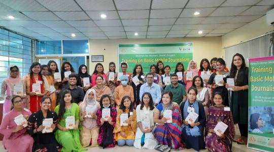 Successfully completed Basic Mobile Journalism Training Initiative for Women
