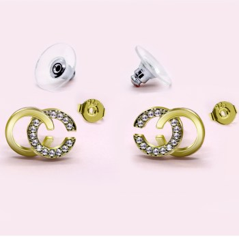 Stunning CC Earrings in Gold