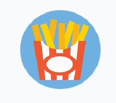 Icônes des frites