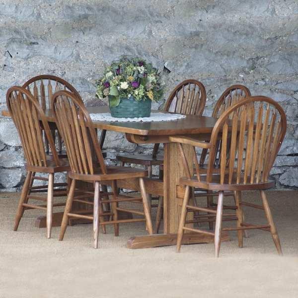 Pin Trestle Farmhouse Dining Suite