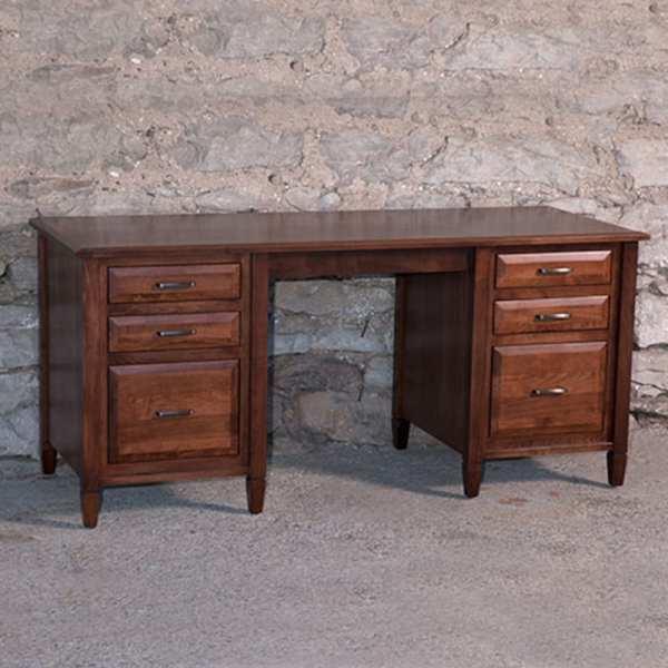 Solid Wood Brown Maple Desk