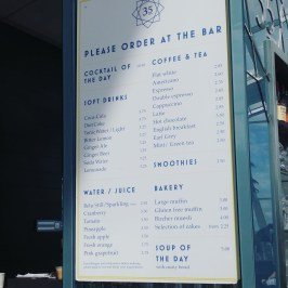 Sky Garden Bar Menu 2