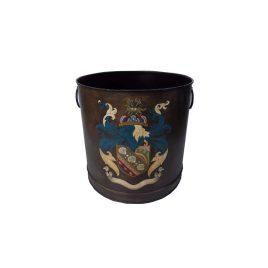 Hand Painted Chinoiserie Round Drum