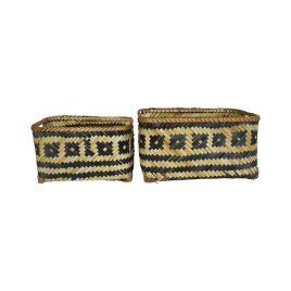 Monochrome Bamboo Basket (Set of 2)