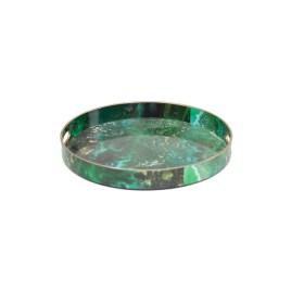 Green Malachite Round Trays (S)