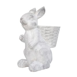 White Bunny with Back Basket