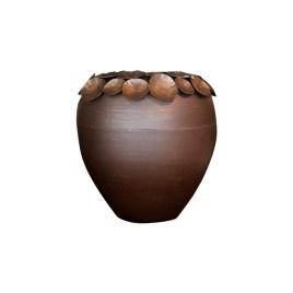 Lotus Leaf Metal Vase (S)
