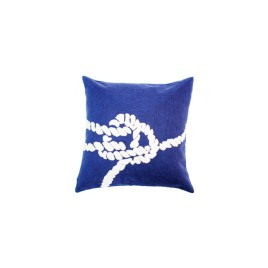 Navy Blue Nautical Knot Pillow