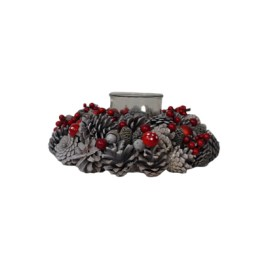 Frosted Red Berry Christmas Wreath (S)