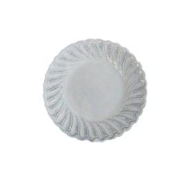 Italian White Ceramic Salad Plate