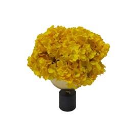 Yellow Hydarngea with Vase