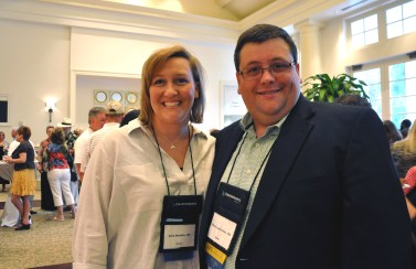 Dr. Drake Lavender (right), assistant professor in Family Medicine at the College, has been appointed president of the Alabama Academy of Family Physicians, a position formerly held by Dr. Julia Boothe (left), adjunct instructor in Family Medicine for the College.