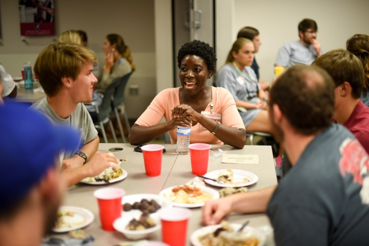 After the hard work, students had lunch with faculty. Dr. Lloyda Williamson, associate professor in Psychiatry and Behavioral Medicine, welcomed students.