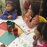 Refugee camp kindergartners
