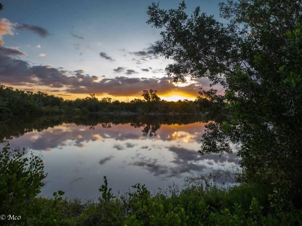 Sunrise at Eco Pond