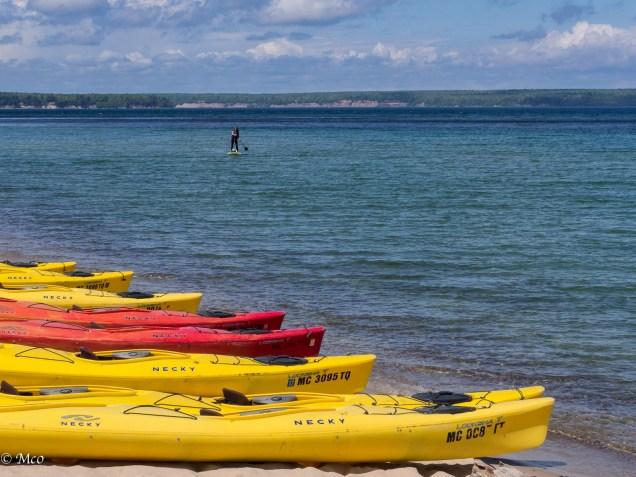 Kayaks at Miner's Beach