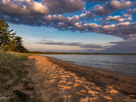 Dawn over the beach