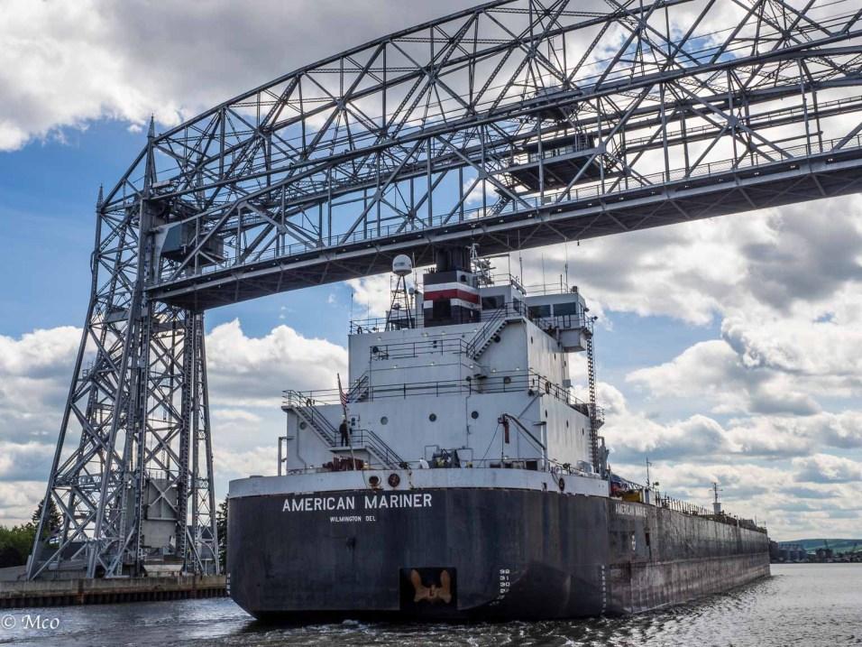 American Mariner entering to load cargo