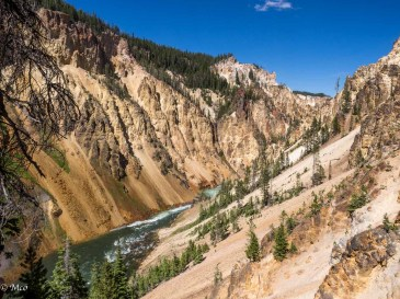 Yellowstone Grand Canyon below the falls