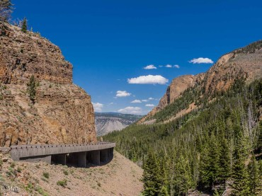 Yellowstone's most challenging pass. This road is version three, hopefully here to stay.