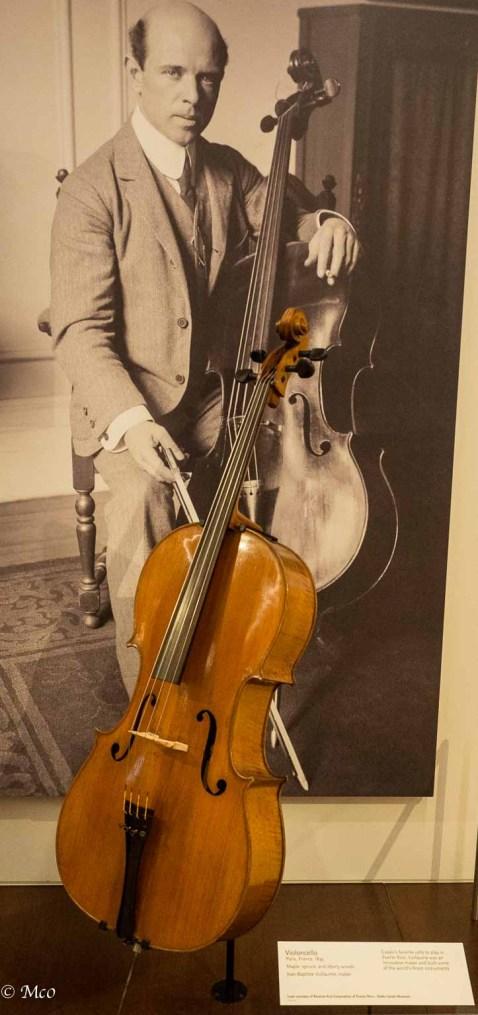 Pablo Casals, his favorite Vuillaume cello (when in Puerto Rico)