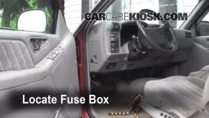 Interior Fuse Box Location: 19951997 Chevrolet Blazer