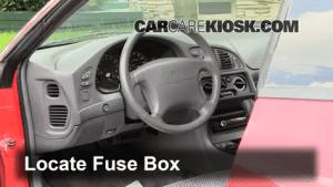 Interior Fuse Box Location: 19952000 Dodge Avenger  1996