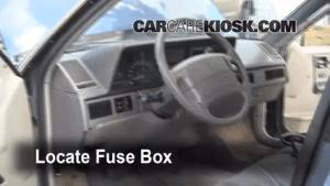 Interior Fuse Box Location: 19901997 Oldsmobile Cutlass