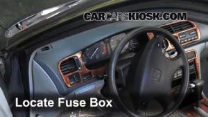 Interior Fuse Box Location: 19941997 Honda Accord  1997 Honda Accord LX 22L 4 Cyl Sedan (4 Door)