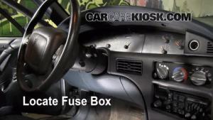 Interior Fuse Box Location: 19921999 Pontiac Bonneville  1997 Pontiac Bonneville SE 38L V6