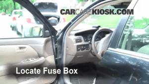 Interior Fuse Box Location: 19972001 Toyota Camry  1997