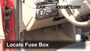 Interior Fuse Box Location: 19952000 Ford Contour  1998 Ford Contour LX 20L 4 Cyl