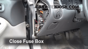 Interior Fuse Box Location: 19982002 Oldsmobile Intrigue  1998 Oldsmobile Intrigue GL 38L V6