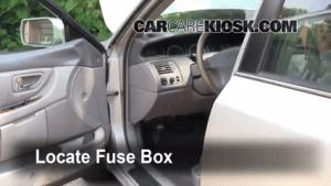 Interior Fuse Box Location: 19951999 Toyota Avalon  1998