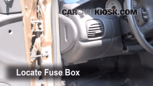 Interior Fuse Box Location: 20002005 Dodge Neon  2001