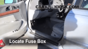 Interior Fuse Box Location: 19952002 Lincoln Continental  2001 Lincoln Continental 46L V8