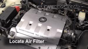 19982004 Cadillac Seville Engine Air Filter Check  2003 Cadillac Seville SLS 46L V8
