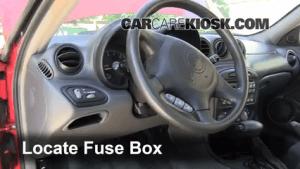 Interior Fuse Box Location: 19992005 Pontiac Grand Am  2003 Pontiac Grand Am SE1 34L V6 Sedan