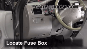 Interior Fuse Box Location: 20012005 Kia Rio  2004 Kia Rio 16L 4 Cyl