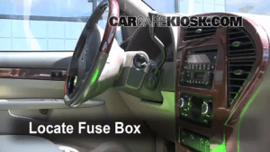 Interior Fuse Box Location: 20022007 Buick Rendezvous  2004 Buick Rendezvous CXL 36L V6