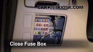 Interior Fuse Box Location: 20022006 Toyota Camry  2005