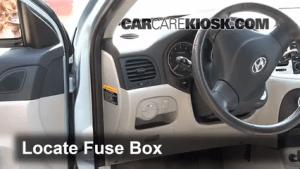 Interior Fuse Box Location: 20062011 Hyundai Accent