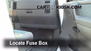 Interior Fuse Box Location: 20042014 Nissan Titan  2007