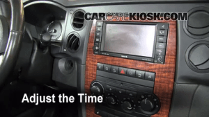 How to Set the Clock on a Jeep Commander (20062010